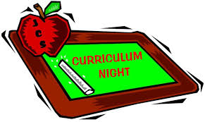 Curriculum Night on Tuesday, September 20, 2016