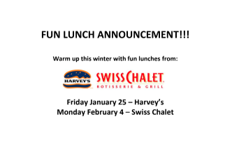FUN Lunches are Back!